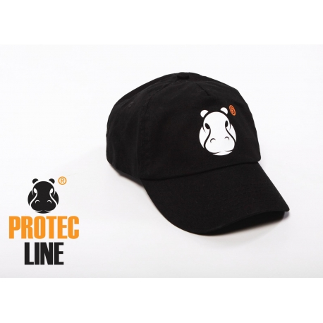 Zwarte Cap Protecline met Hippo